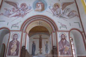 Архим. Зинон. Роспись центральной части восточной стены и алтаря.