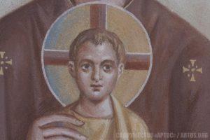 Архим. Зинон. Христос-Емануил. Фрагмент предалтарного образа.